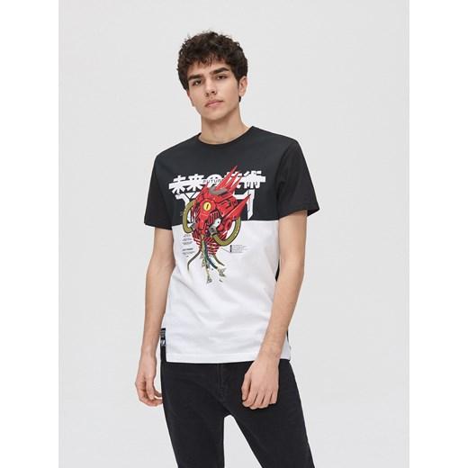 T-shirt męski Cropp z krótkim rękawem qhl7v