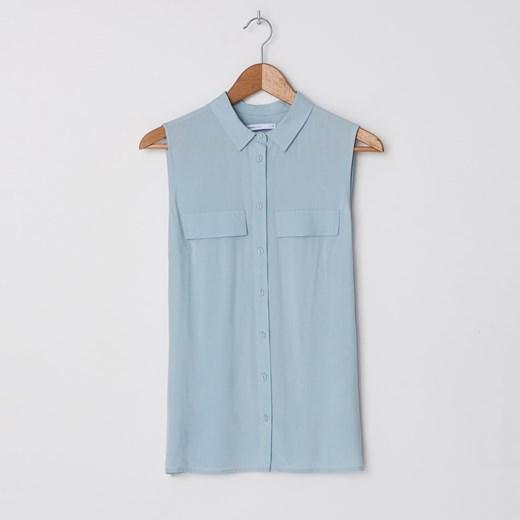 Koszula damska niebieska House z kołnierzykiem w Domodi  LAhAN