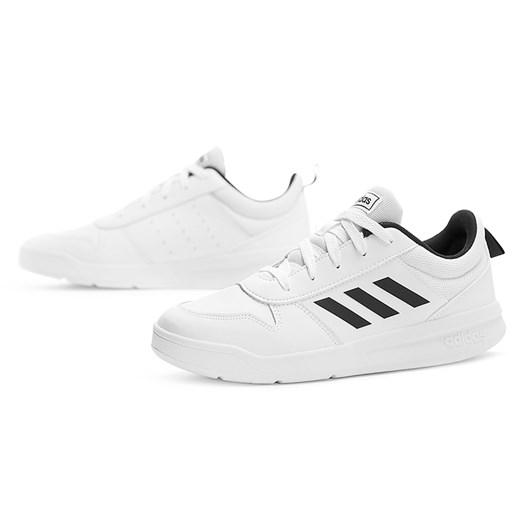 Buty sportowe dziecięce Adidas skórzane wiązane bez wzorów w