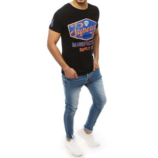 T-shirt męski Dstreet czarny ZlYmH