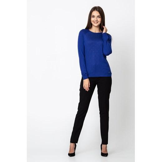 Sweter damski Quiosque z okrągłym dekoltem Odzież Damska QX niebieski LSVI