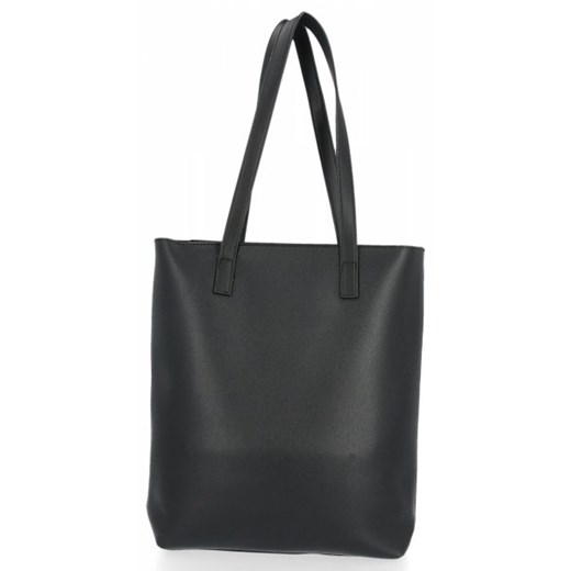 Shopper bag David Jones czarna z breloczkiem na ramię