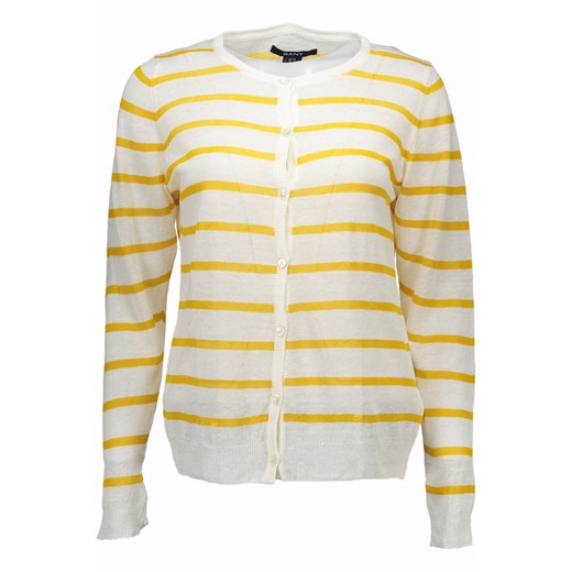 Sweter damski Gant z okrągłym dekoltem Odzież Damska EW beżowy XHQG