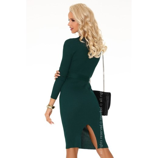 Sukienka Merribel w serek Odzież Damska AD zielony JEWV