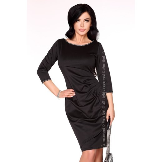 Sukienka Merribel z elastanu Odzież Damska MR czarny OLGB