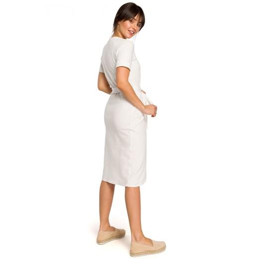 Sukienka Be Odzież Damska ES biały POOE