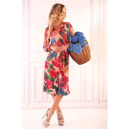 Sukienka Merribel w kwiaty Odzież Damska WN wielokolorowy HXWT