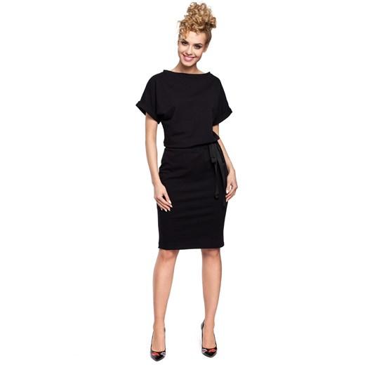 Sukienka Moe bawełniana ołówkowa Odzież Damska HN czarny BZNK