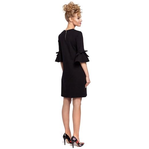 Sukienka Moe z okrągłym dekoltem Odzież Damska HG czarny NGFY