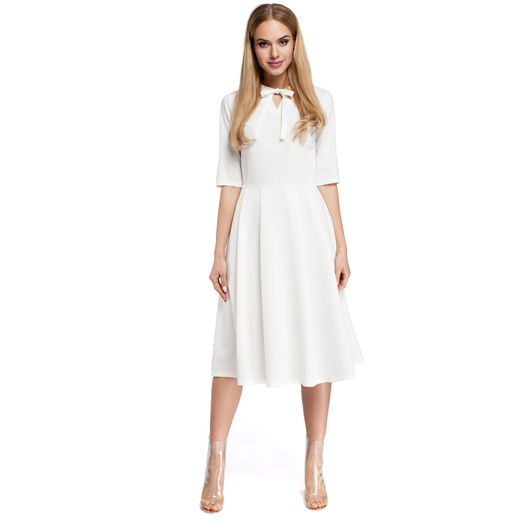 Sukienka Moe elegancka Odzież Damska PB biały LGUL