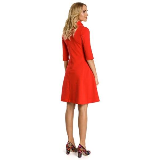 Sukienka Moe z bawełny Odzież Damska TZ czerwony ILLF