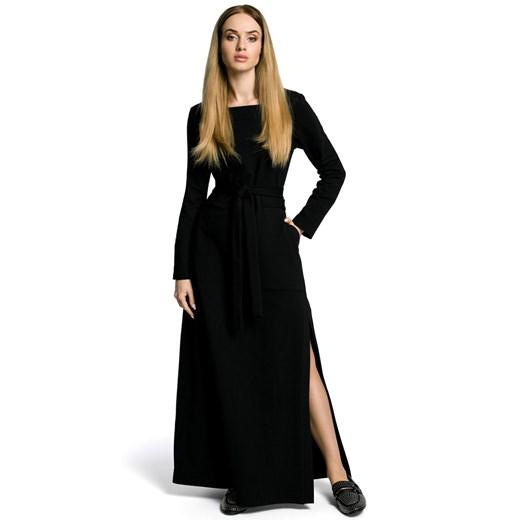 Sukienka Moe bawełniana Odzież Damska XZ czarny ZRVX