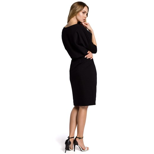 Sukienka Moe ołówkowa Odzież Damska DO czarny STZL