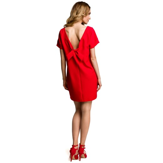 Sukienka Moe luźna Odzież Damska SJ czerwony FYIE