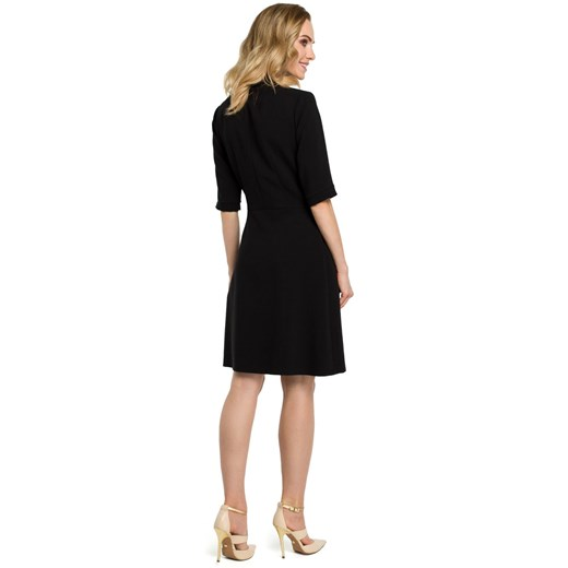 Sukienka Moe elegancka Odzież Damska UK czarny YISS