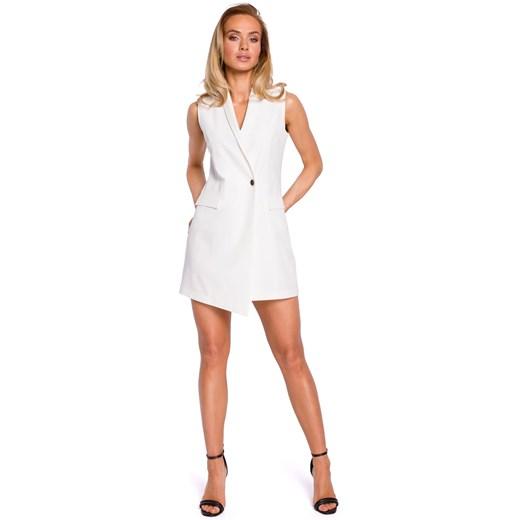 Sukienka Moe tkaninowa Odzież Damska IR biały DCJY