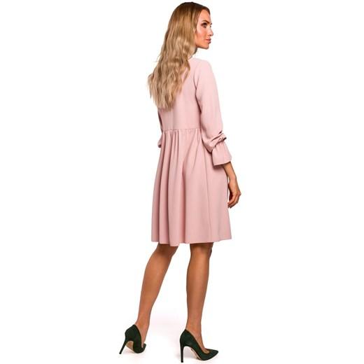 Sukienka Moe z elastanu bez wzorów z długim rękawem mini Odzież Damska UZ QZAG