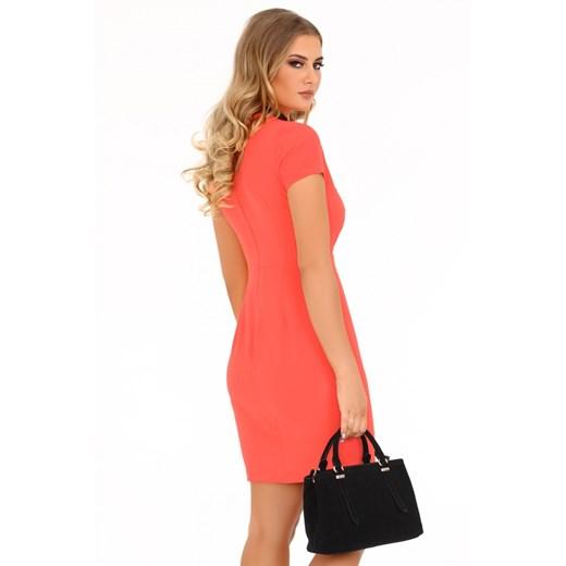 Sukienka Merribel elegancka Odzież Damska PG pomarańczowy ZFTX