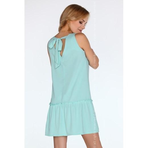 Sukienka Merribel bez wzorów casualowa miętowa trapezowa Odzież Damska AY miętowy ZCFX