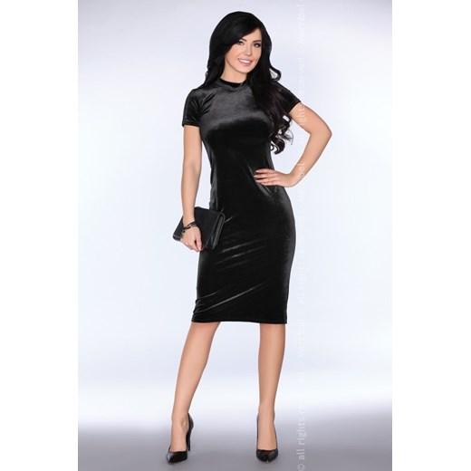 Sukienka Merribel z okrągłym dekoltem Odzież Damska NI czarny DWBZ