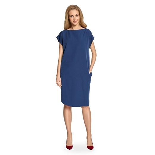 Sukienka Style Odzież Damska WT granatowy DAVI