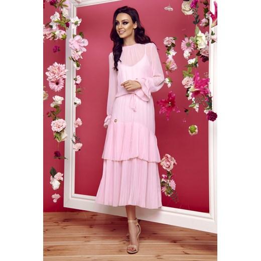 Sukienka Lemoniade Odzież Damska DD różowy EJAI