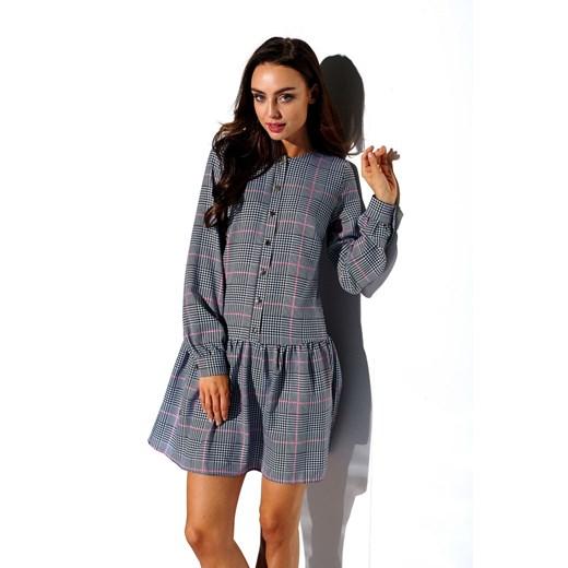 Sukienka Lemoniade koszulowa Odzież Damska XA szary UNOL