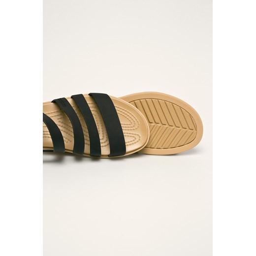 Sandały damskie Crocs z gumy płaskie