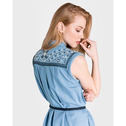 Sukienka Pepe Jeans Odzież Damska RZ niebieski WOUH