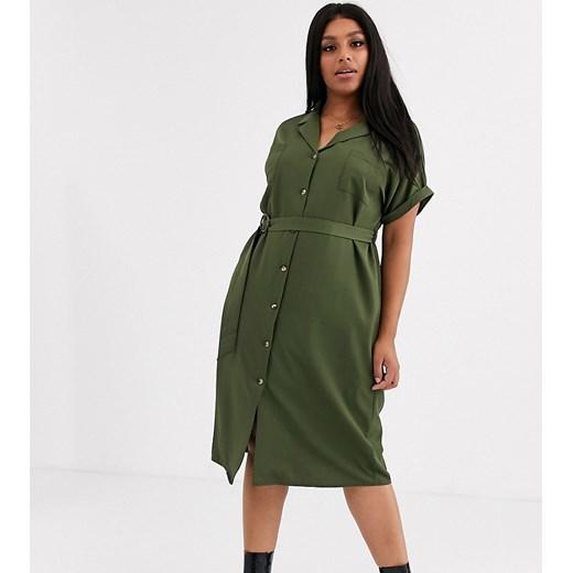 New Look sukienka zielona Odzież Damska RZ zielony WFPY