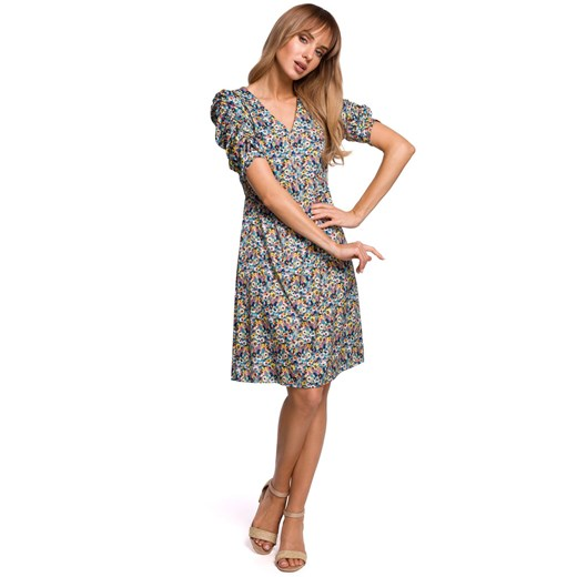 Sukienka Moe z elastanu Odzież Damska YY wielokolorowy LYEJ