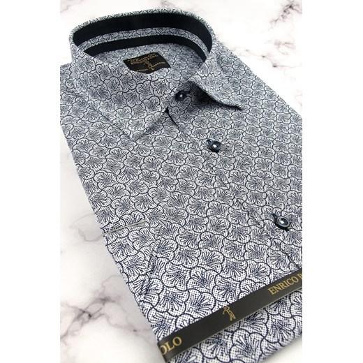 Koszula męska Enrico Polo z krótkimi rękawami w stylu młodzieżowym w abstrakcyjnym wzorze xCTkG
