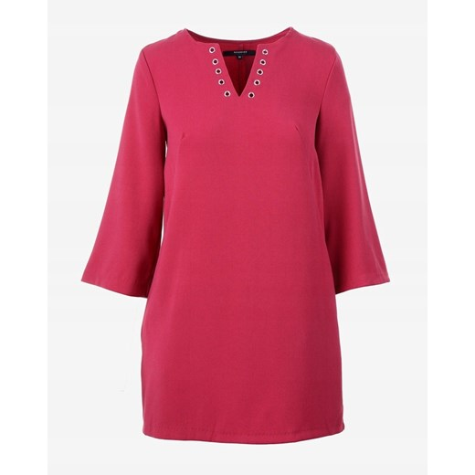 Sukienka Reserved czerwona z dekoltem w serek Odzież Damska AS czerwony SISK
