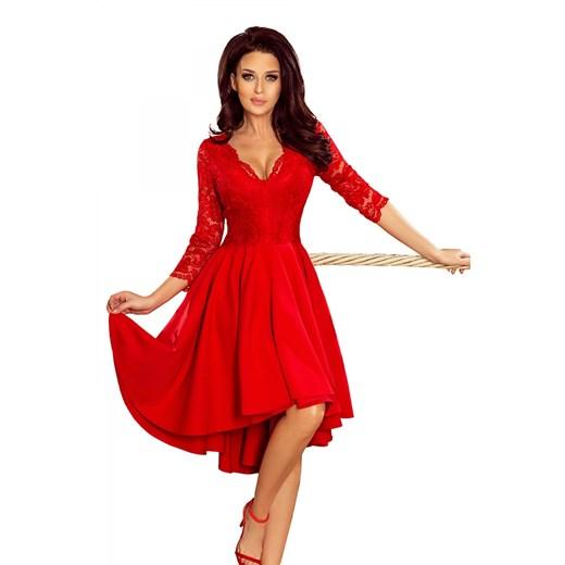 asymetryczna sukienka z koronkową górą  Manumo az3B3