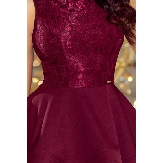 Sukienka wieczorowa z wyszywaną górą i falbaniastym dołem  Manumo YSyV0