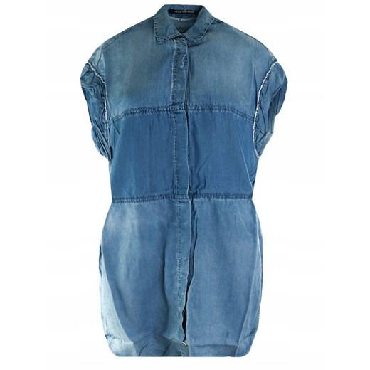 Sukienka Replay bez rękawów mini Odzież Damska TG niebieski BABI