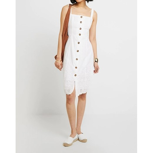 Biała sukienka Gap na uczelnię Odzież Damska VN biały URIB