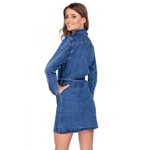 Sukienka Omnido z długim rękawem szmizjerka Odzież Damska IT niebieski MLLD