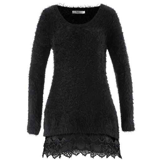 Długi sweter z koronką, rękaw   bonprix Odzież Damska LS YPTW