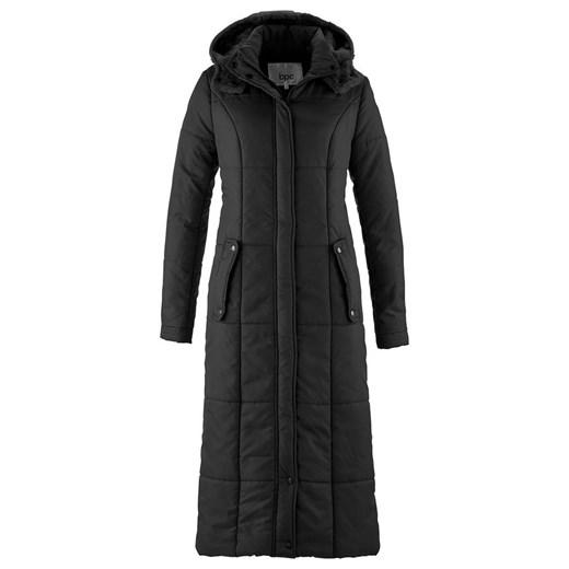 Lekki, długi płaszcz pikowany bonprix czarny zima w Domodi