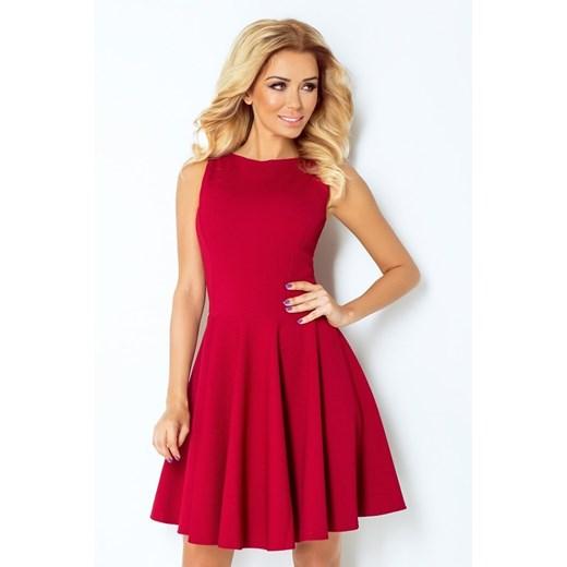 Sukienka Numoco elegancka Odzież Damska IK czerwony NSIX