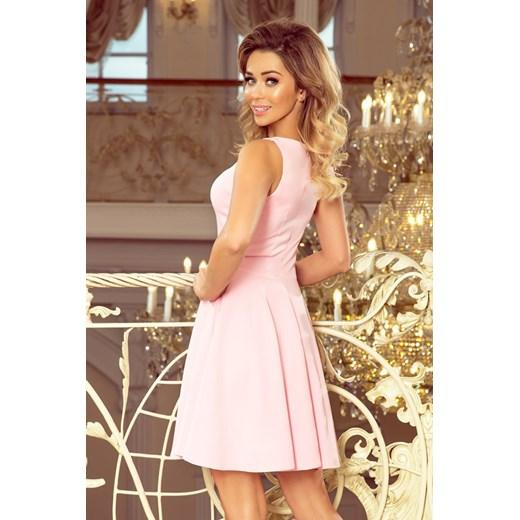 Sukienka Morimia bez rękawów z dekoltem v mini Odzież Damska YS różowy KKNW