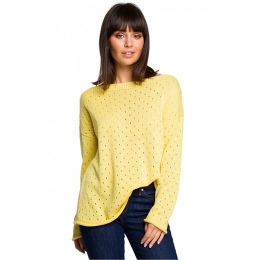 Sweter damski Be Knit z okrągłym dekoltem Odzież Damska ZY DWAS