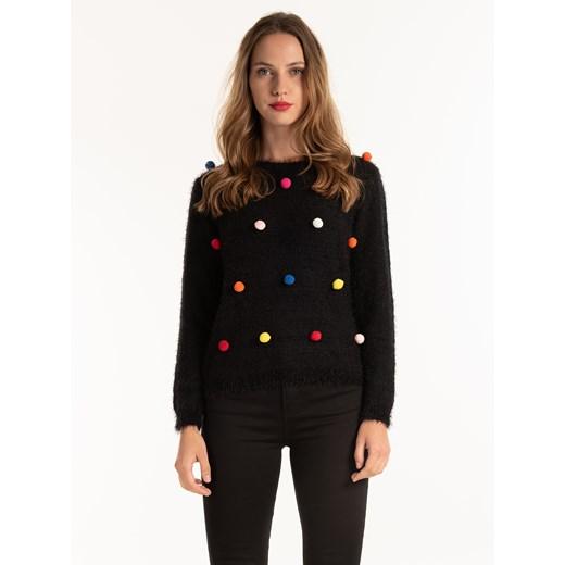 Sweter damski Gate casual Odzież Damska CQ czarny XMJM
