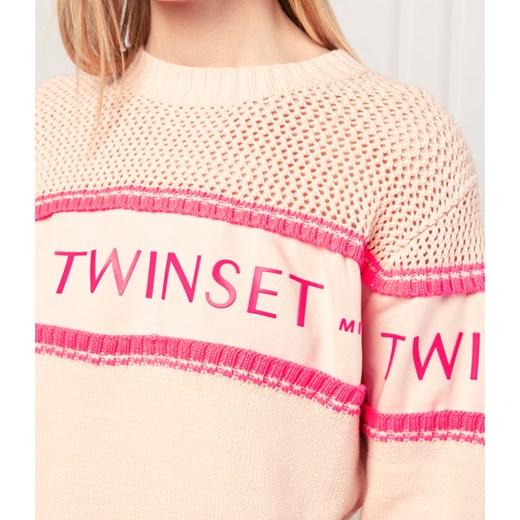 Sweter damski Twinset Odzież Damska EP różowy CEUX