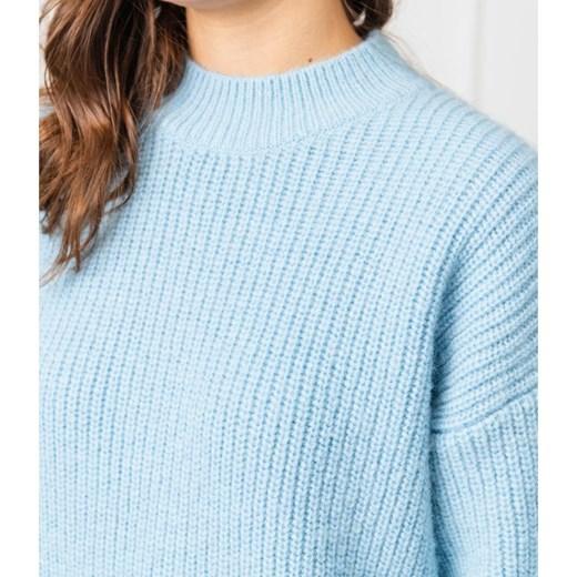 Sweter damski Hugo Boss bez wzorów wełniany Odzież Damska SK ACGM