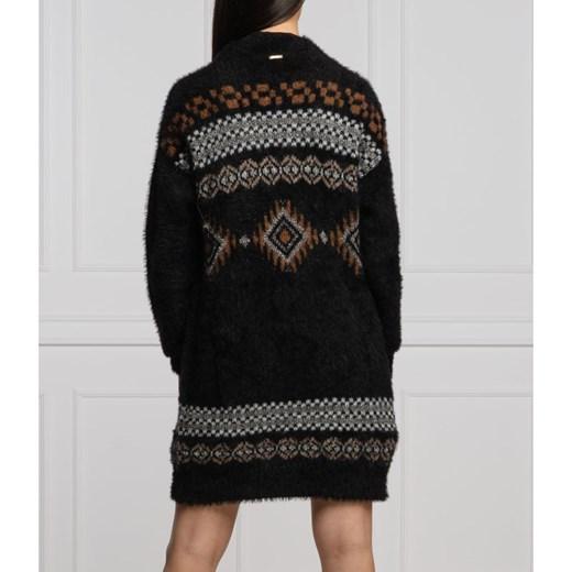 Sweter damski Liu Jo w serek Odzież Damska ZY czarny OHDX