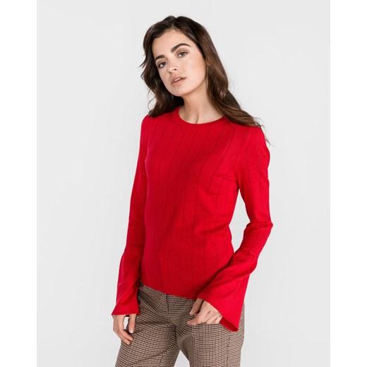 Sweter damski Vero Moda z okrągłym dekoltem gładki Odzież Damska TO czerwony NCNM
