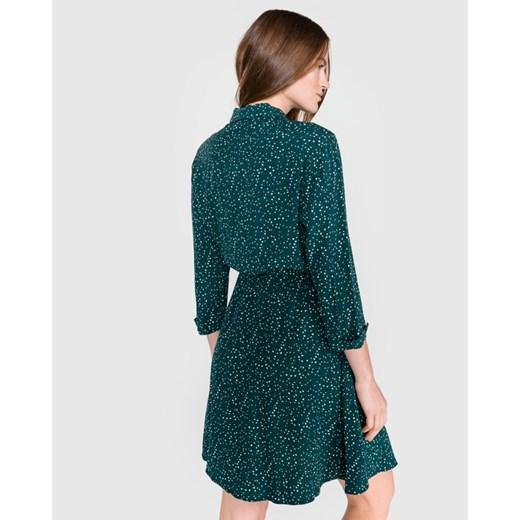 Tommy Hilfiger Lucia Sukienka Zielony BIBLOO promocja Odzież Damska GS zielony DVKC
