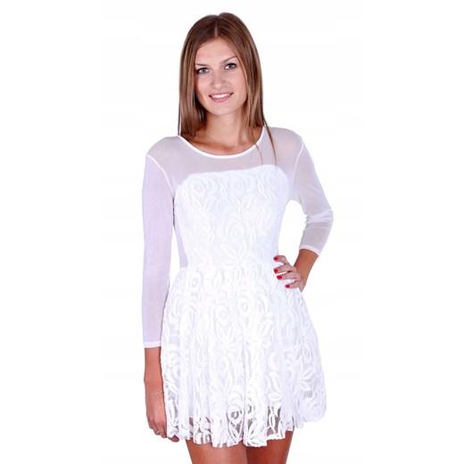 Sukienka Odzież Damska AK biały UXIL